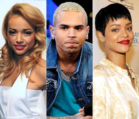 Chris Brown Karrueche Rihanna