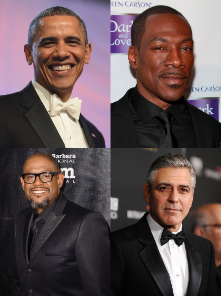 VIBE-Vixen-Barack Obama, Eddie Murphy, Forest Whitaker, and George Clooney