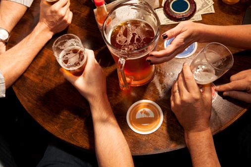 VIBE-Vixen-Drinking Beer