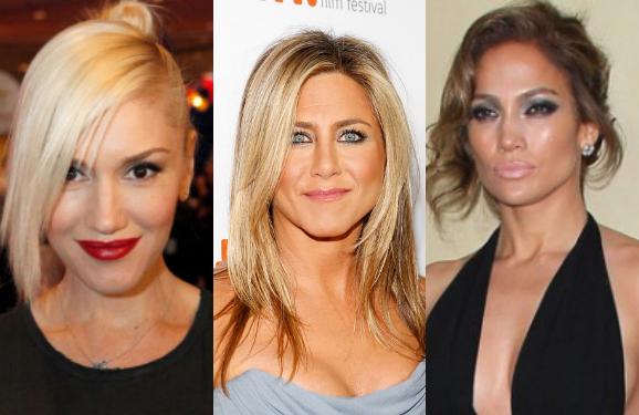 Gwen Stefani, Jennifer Aniston, and Jennifer Lopez
