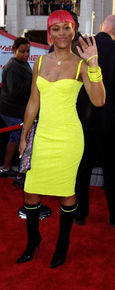Rapper Eve arrives at Lincoln Center for the MTV Music Video