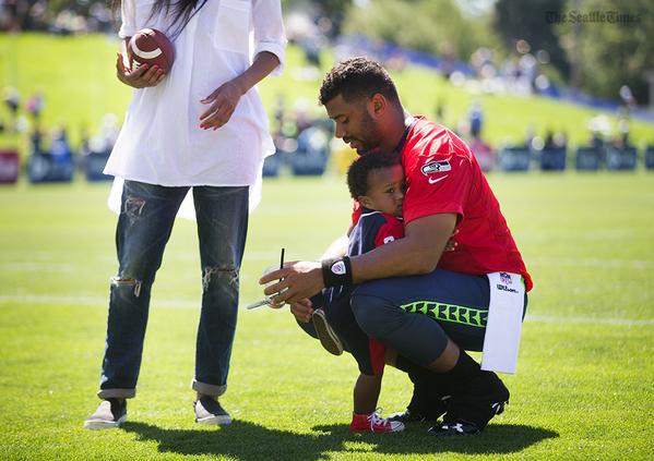 Russell Wilson Baby Future Training Camp