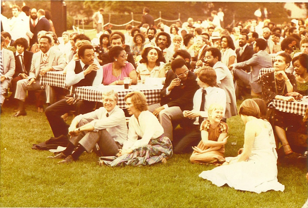 Picture of the first Black Music Month Gathering at the White House