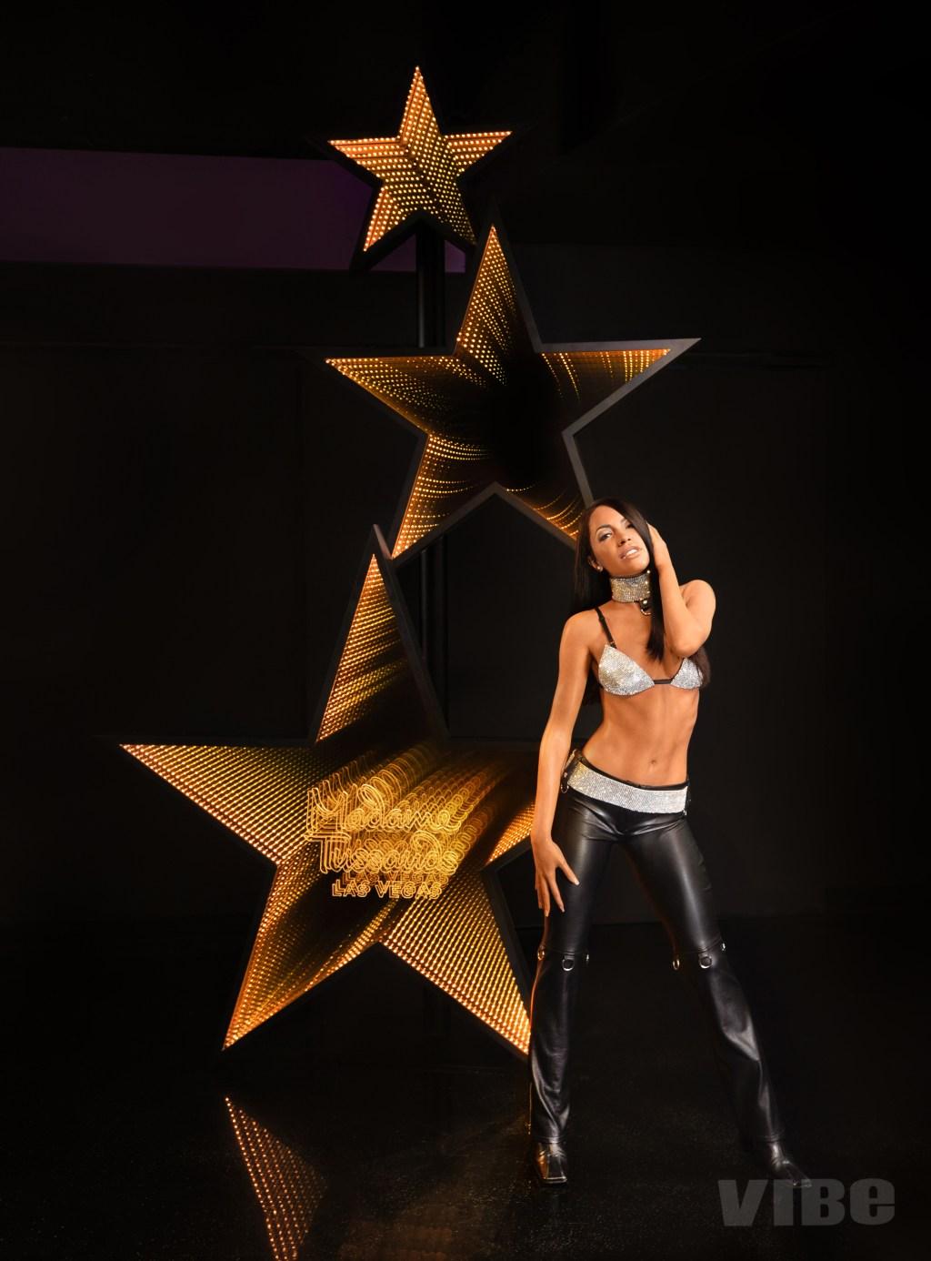 Aaliyah wax statue Madame Tussauds