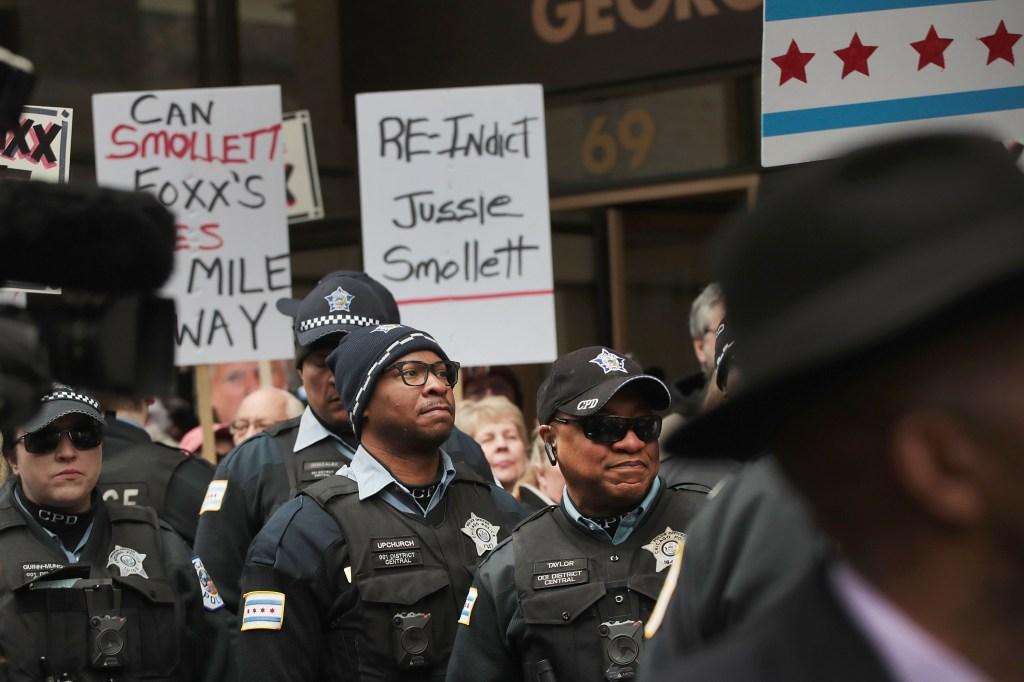Chicago Police Protest State's Attorney Kim Foxx Over Jussie Smollett Case