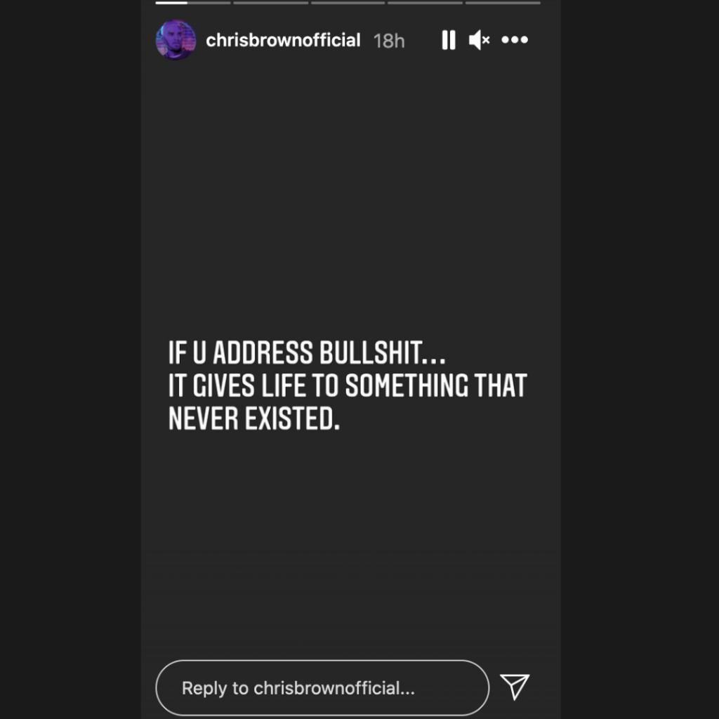 Chris Brown Instagram Story